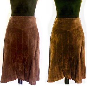 ALT SUEDE LEATHER FULL SKIRT FULLY LINED SIZE ZIP